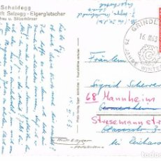 Sellos: SUIZA, 75 AÑOS DE LOS JUEGOS DE INVIERNO EN GRINDEWALD, MATASELLO DE 16-3-1963. Lote 277497498