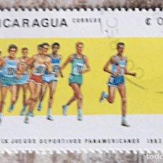 Sellos: JUEGOS PANAMERICANOS. NICARAGUA. SELLO USADO - AÑO 1983. Lote 277624543