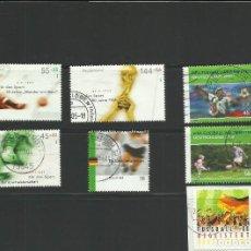 Sellos: ALEMANIA LOTE 7 SELLOS CONMEMORATIVOS MUNDIAL DE FUTBOL - EUROCOPA - FIFA. Lote 277834178