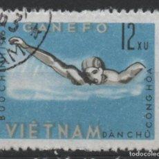 Timbres: VIETNAM 1963 DEPORTES ACUATICOS SELLO USADO * LEER DESCRIPCION. Lote 278269563