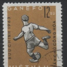 Timbres: VIETNAM 1963 DEPORTES FUTBOL SELLO USADO * LEER DESCRIPCION. Lote 278269623