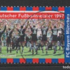 Sellos: ALEMANIA 1997 FUTBOL SELLO USADO * LEER DESCRIPCION. Lote 278281493