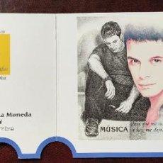 Sellos: HOJA BLOQUE ALEJANDRO SANZ MUSICA EDIFIL 3756 MATASELLO ESPECIAL AÑO 2000 + ENTRADA MADRID 2000. Lote 283208478
