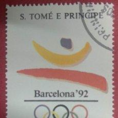 Sellos: S. TOMÉ E PRINCIPE AÑO 1988. BARCELONA´92. Lote 287951548