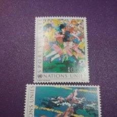 Sellos: SELLO NACIONES UNIDAS (GINEBRA) NUEVO/1988/DEPORTE/SALUD/FUTBOL/JUEGOS/NATACION. Lote 288546143