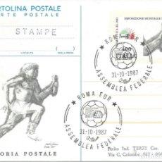 Sellos: 1987. ITALIA/ITALY. MATASELLOS/POSTMARK. ASAMBLEA FED ITALIANA DE FÚTBOL. FOOTBALL. DEPORTES/SPORTS.. Lote 289566793