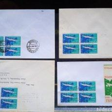 Sellos: 4 SOBRES 1970 XII CAMPEONATOS EUROPEOS DE NATACIÓN.. Lote 290082208