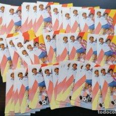Sellos: FUTBOL MUNDIAL ESPAÑA 1982 LOTE 80 SELLOS CUBA YVERT 70 HB USADO CATALOGADO 400€. Lote 292327488