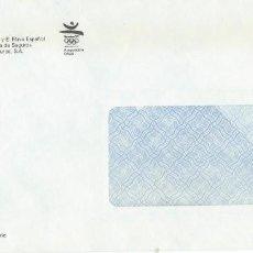 Sellos: 1992. SOBRE SIN CIRCULAR. UNIÓN FÉNIX. BARCELOMA'92 ASEGURADORA OFICIAL. JUEGOS OLÍMPICOS. DEPORTES.. Lote 295741513