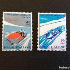 Sellos: ITALIA Nº YVERT 938/9*** AÑO 1966. DEPORTES. CAMPEONATO DEL MUNDO DE BOBSLEIGH. Lote 296736113