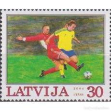 Sellos: ⚡ DISCOUNT LATVIA 2004 EUROPEAN FOOTBALL CHAMPIONSHIP - PORTUGAL 2004 MNH - FOOTBALL. Lote 297145888