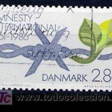 Sellos: DINAMARCA 1986. 25 ANIVERSARIO DE AMISTIA INTERNACIONAL. Lote 3877371