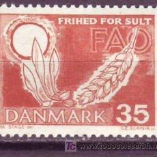 Sellos: DINAMARCA 1963. CAMPAÑA DE LA FAO PARA LA LUCHA CONTRA EL HAMBRE. Lote 3870787