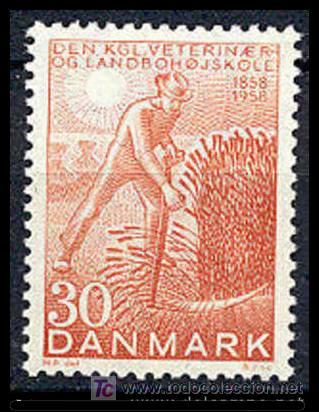 DINAMARCA 1958. CENTENARIO DEL REAL COLEGIO DE AGRICULTURA Y VETERINARIO (Sellos - Extranjero - Europa - Dinamarca)