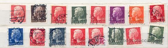 DINAMARCA 1974-1981. REINA MARGARITA (Sellos - Extranjero - Europa - Dinamarca)