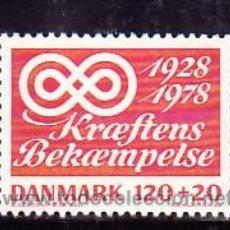 Briefmarken - DINAMARCA 673 SIN CHARNELA, MEDICINA, 50º ANIVERSARIO CAMPAÑA LUCHA CONTRA EL CANCER, - 8346778