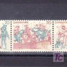 Sellos: DINAMARCA 559/63 SIN CHARNELA, RELIGION, PINTURA, FRESCOS, . Lote 32258338
