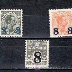 Sellos: DINAMARCA 127/9 CON CHARNELA, MONARQUIA, REY CHRISTIAN X, SOBRECARGADO, . Lote 8351059
