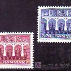 Sellos: DINAMARCA 809/10 SIN CHARNELA, TEMA EUROPA 1984, 25º ANIVERSARIO CONFERENCIA EUROPEA, . Lote 8335644
