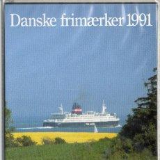 Sellos: DINAMARCA AÑO 1991 COMPLETO*** EN CARPETA OFICIAL (VER FOTOS). Lote 27033786