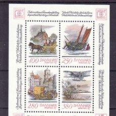 Sellos: DINAMARCA HB 6 SIN CHARNELA, CORREOS, HAFNIA 87 EXPOSICION FILATELICA MUNIDIAL EN COPENHAGUE. Lote 11584819