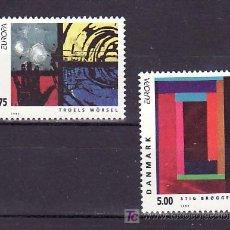 Sellos: DINAMARCA 1055/6 SIN CHARNELA, TEMA EUROPA 1993, ARTE CONTEMPORANEO, . Lote 10532021