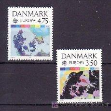 Sellos: DINAMARCA 1004/5 SIN CHARNELA, TEMA EUROPA 1991, EUROPA Y EL ESPACIO, . Lote 10532063