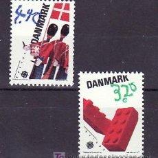 Sellos: DINAMARCA 953/4 SIN CHARNELA, TEMA EUROPA 1989, JUEGOS INFANTILES, . Lote 10532078