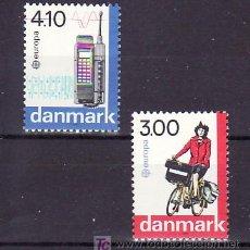 Sellos: DINAMARCA 924/5 SIN CHARNELA, TEMA EUROPA 1988, TRANSPORTES Y COMUNICACIONES, . Lote 10532088