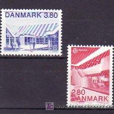 Sellos: DINAMARCA 897/8 SIN CHARNELA, TEMA EUROPA 1987, ARQUITECTURA MODERNA, . Lote 10532104