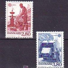 Sellos: DINAMARCA 881/2 SIN CHARNELA, TEMA EUROPA 1986, PROTECCION DE LA NATURALEZA Y MEDIO AMBIENTE, . Lote 10532201