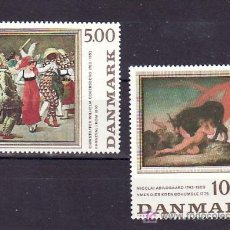 Sellos: DINAMARCA 822/3 SIN CHARNELA, PINTURA, CARNAVAL EN ROMA, MITOLOGIA ESCANDINAVA, . Lote 12009149