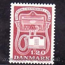 Sellos: DINAMARCA 676 SIN CHARNELA, TELEFONO, CENTENARIO DEL TELEFONO EN DINAMARCA, . Lote 32258415