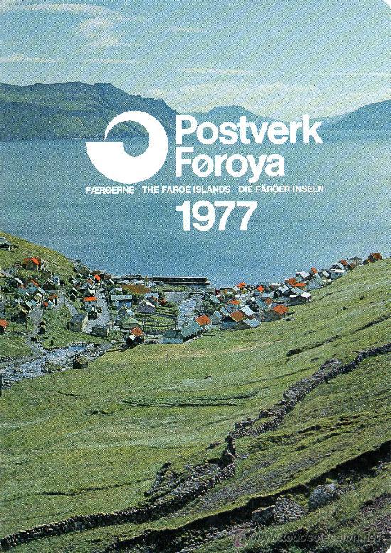 FEROE AÑO 1977 COMPLETO YV 18/24*** EN CARPETA OFICIAL (VER FOTOS) FAUNA AVES BARCOS (Sellos - Extranjero - Europa - Dinamarca)