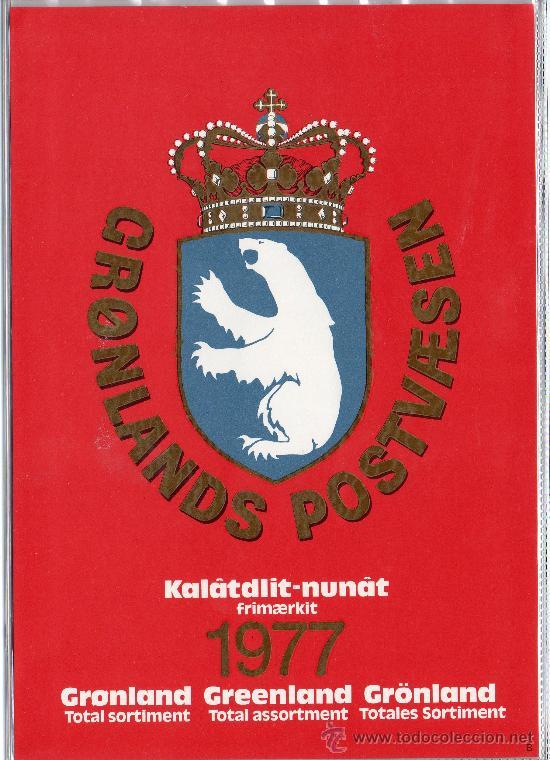 GROENLANDIA AÑO 1977 COMPLETO NUEVO*** EN CARPETA OFICIAL ANUAL (VER FOTOS) POLAR CZ SLANIA (Sellos - Extranjero - Europa - Dinamarca)