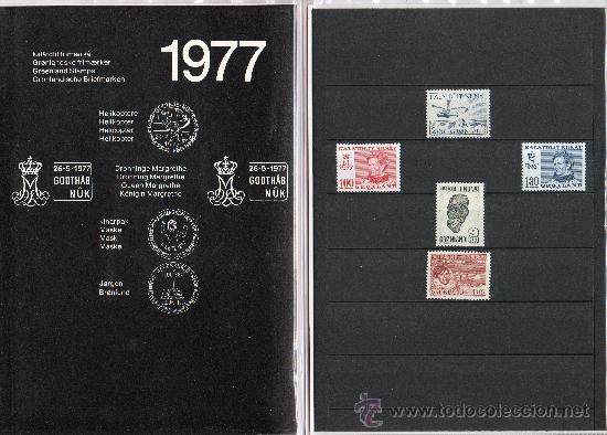 Sellos: GROENLANDIA AÑO 1977 COMPLETO NUEVO*** EN CARPETA OFICIAL ANUAL (VER FOTOS) POLAR CZ SLANIA - Foto 2 - 26335504