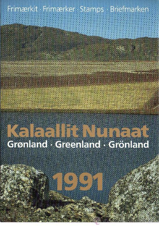 GROENLANDIA AÑO 1991 COMPLETO NUEVO*** EN CARPETA OFICIAL (VER FOTOS) POLAR (Sellos - Extranjero - Europa - Dinamarca)