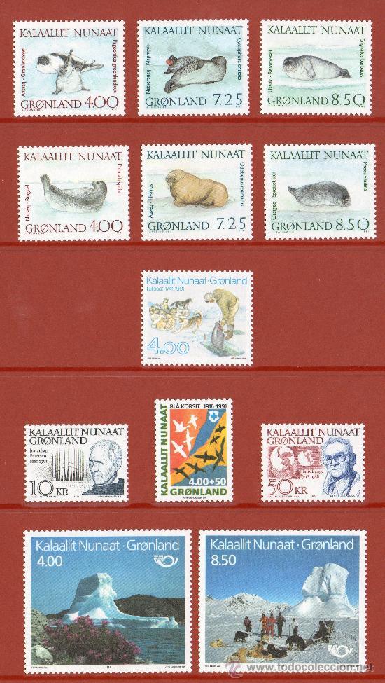 Sellos: GROENLANDIA AÑO 1991 COMPLETO NUEVO*** EN CARPETA OFICIAL (VER FOTOS) POLAR - Foto 2 - 26335506