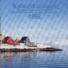 Sellos: GROENLANDIA AÑO 1992 COMPLETO NUEVO*** EN CARPETA OFICIAL (VER FOTOS) POLAR. Lote 26335507