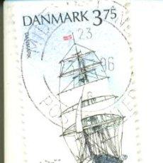 Briefmarken - 2dina-1059. Dinamarca usado. Yvert nº 1059. Veleros, Escudo Danmark - 16414934