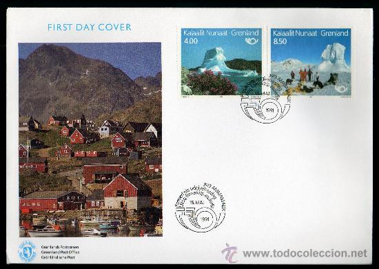 GROENLANDIA AÑO 1991 YV 206/07 SPD - NORDIA'91 - TURISMO - POLAR - PERROS - FAUNA - NATURALEZA (Sellos - Extranjero - Europa - Dinamarca)