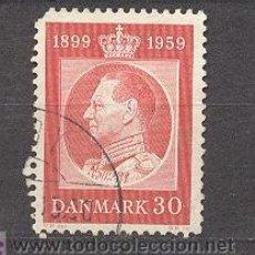 Sellos: DINAMARCA, 1958, ANIVERSARIO DEL REY FEDERICO IX, USADO, YVERT TELLIER 378. Lote 17548546