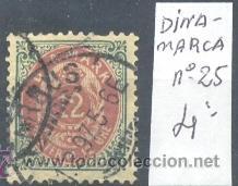 DINAMARCA - SELLO YVERT Nº 25 USADO (Sellos - Extranjero - Europa - Dinamarca)