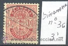 DINAMARCA - SELLO YVERT Nº 36 USADO (Sellos - Extranjero - Europa - Dinamarca)