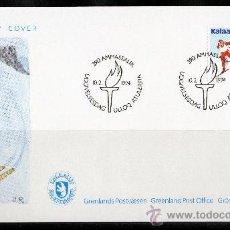 Sellos: GROENLANDIA AÑO 1994 SPD YV 232 JUEGOS OLÍMPICOS DE INVIERNO LILLEHAMMER'94 DEPORTES POLAR. Lote 17987563