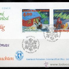 Sellos: GROENLANDIA AÑO 1994 SPD YV 242/43 NAVIDAD PERROS NIÑOS PAPÁ NOEL FIESTAS POPULARES POLAR. Lote 17987619
