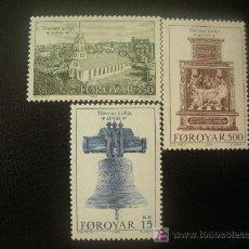 Sellos: FEROE 1989 IVERT 173/5 *** BICENTENARIO IGLESIA DE TORSHAVN - MONUMENTOS. Lote 22938460