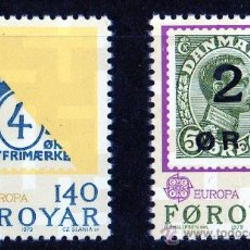 Sellos: FEROE AÑO 1979 YV 37/38*** EUROPA - HISTORIA POSTAL - SELLO SOBRE SELLO - FILATELIA - CZ SLANIA. Lote 20104095