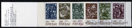 FEROE AÑO 1984 YV C 100/05*** CARNET - CUENTOS DE HADAS - LEYENDAS Y TRADICIONES - DIBUJOS - ARTE (Sellos - Extranjero - Europa - Dinamarca)