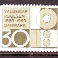 Sellos: SLANIA / DINAMARCA***.AÑO 1969.YVERT 496 .CENT NACIMIENTO VALDEMAR POULSEN.. Lote 26349377